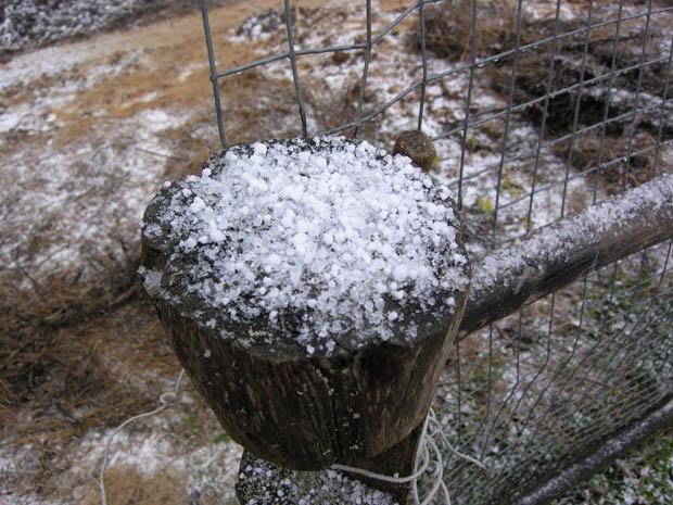 Шёл снег с градом