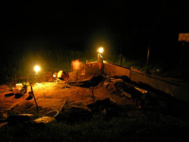 Ночное бетонирование