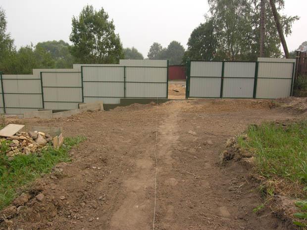 Забор из проф. листов