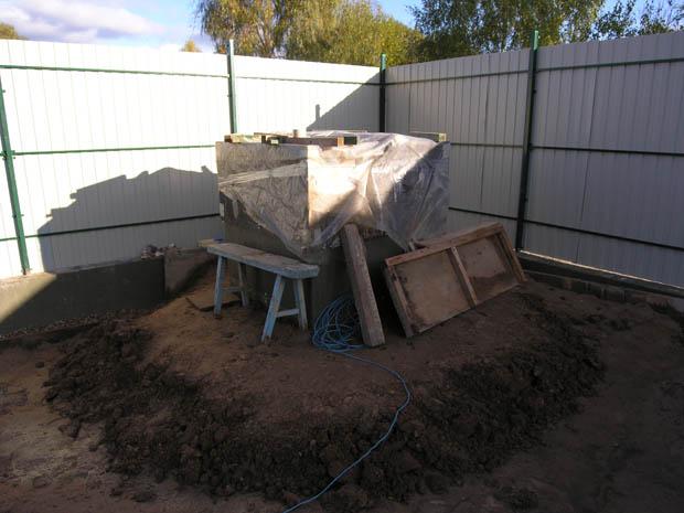 Греем бетон
