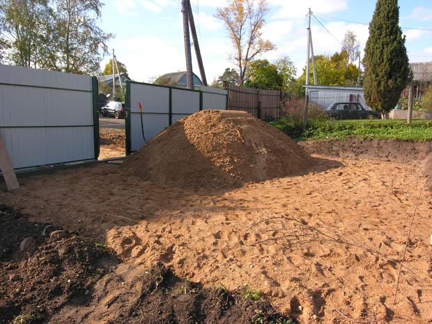 10-ть кубометров песка