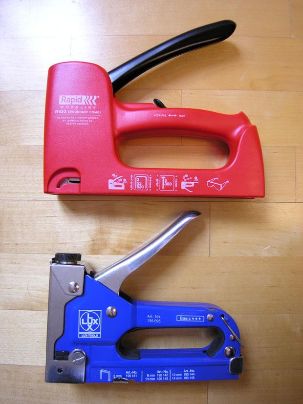 Сравнение степлера Rapid и Lux-Tools