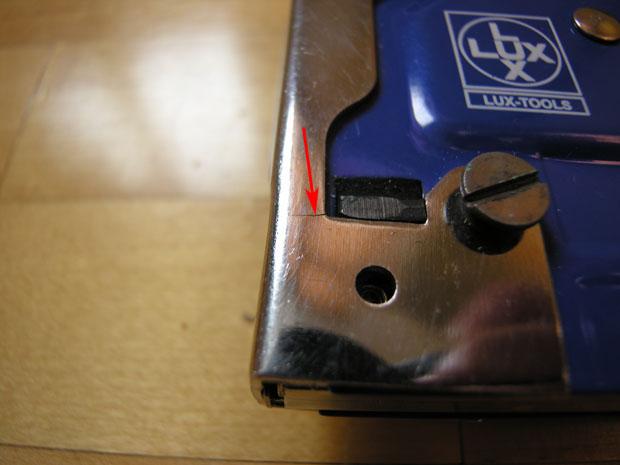 Трещина у степлера Lux-Tools