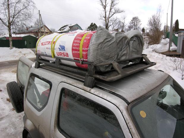 Утеплитель URSA на багажнике Suzuki Jimny