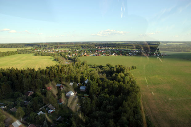 На север от деревни Глазово