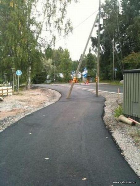 Дорога согласно проекту