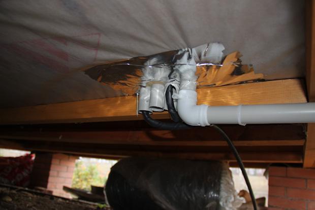Подвод электрики к домику