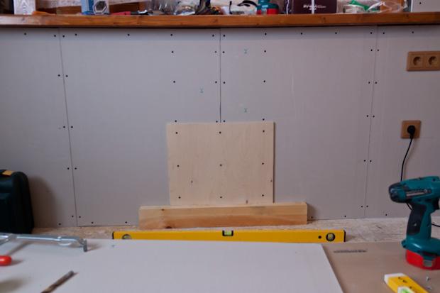 усиление гипсокартона для подвеса обогревателя