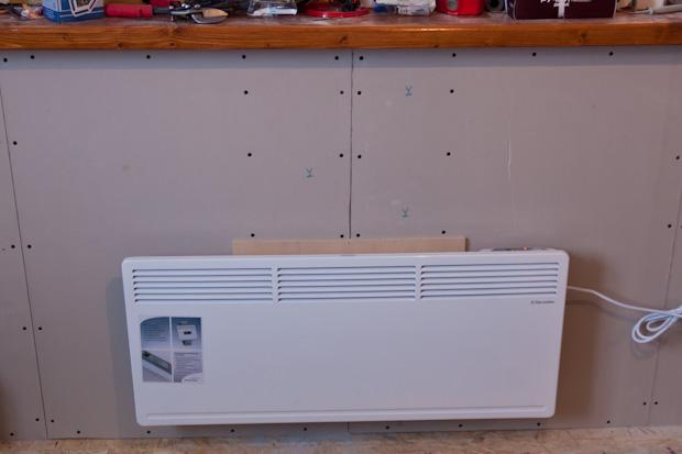 Электроконвектор на гипсокартоне