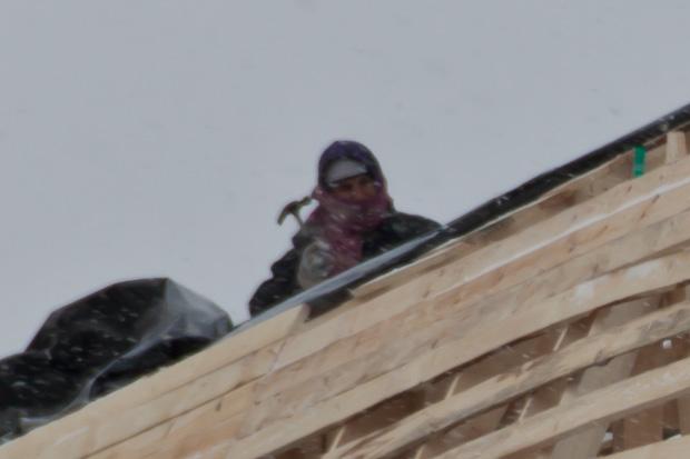 Работа в мороз