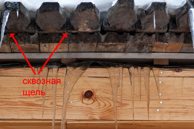 деревянное кровельное покрытие протекает