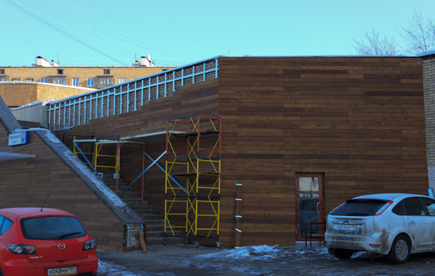 вентилируемый деревянный фасад