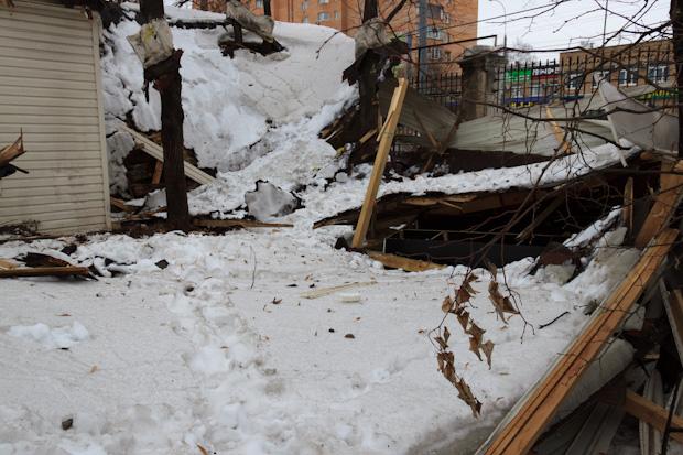У ресторана обрушилась крыша