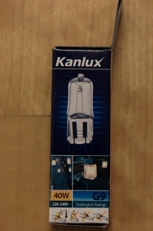 Лампа галогеновая G9-40W Kanlux