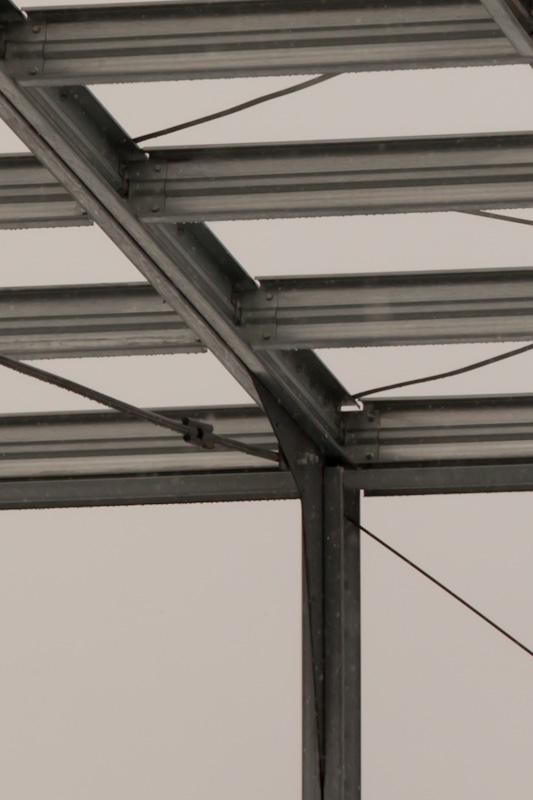 каркасная конструкция складского помещения