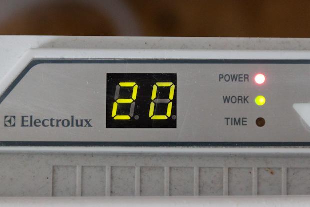 20 градусов на конвекторе