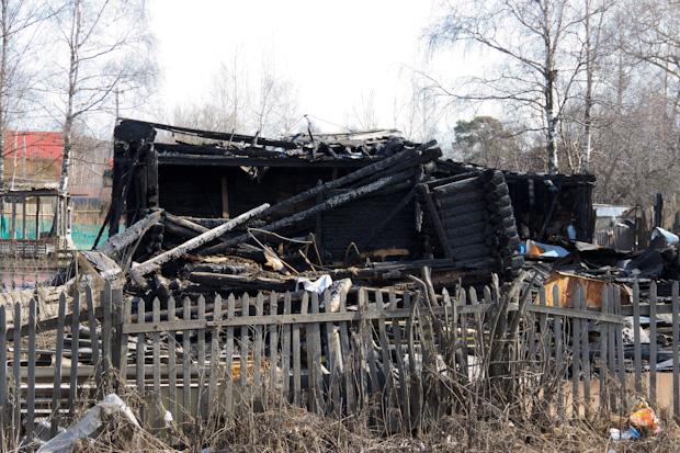 сгорел дом на Ленинградке