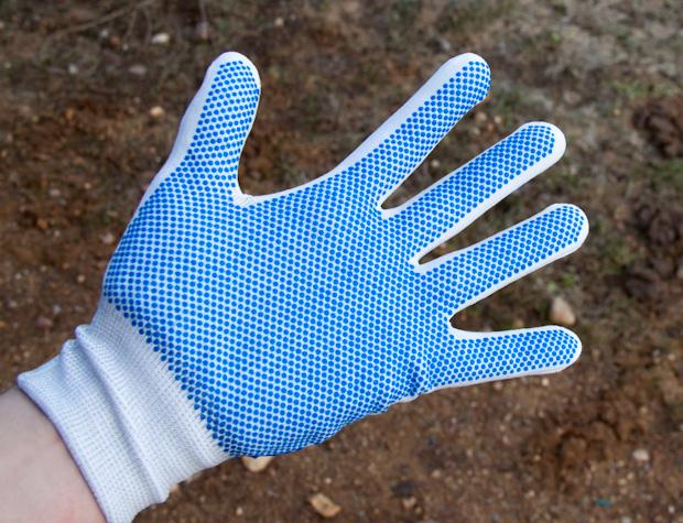 перчатки нейлоновые антистатичные с ПВХ