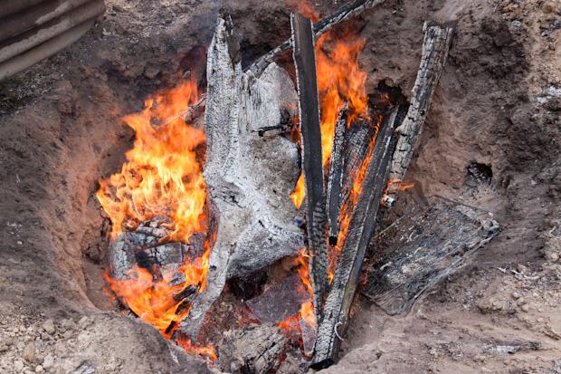 выжигания пня