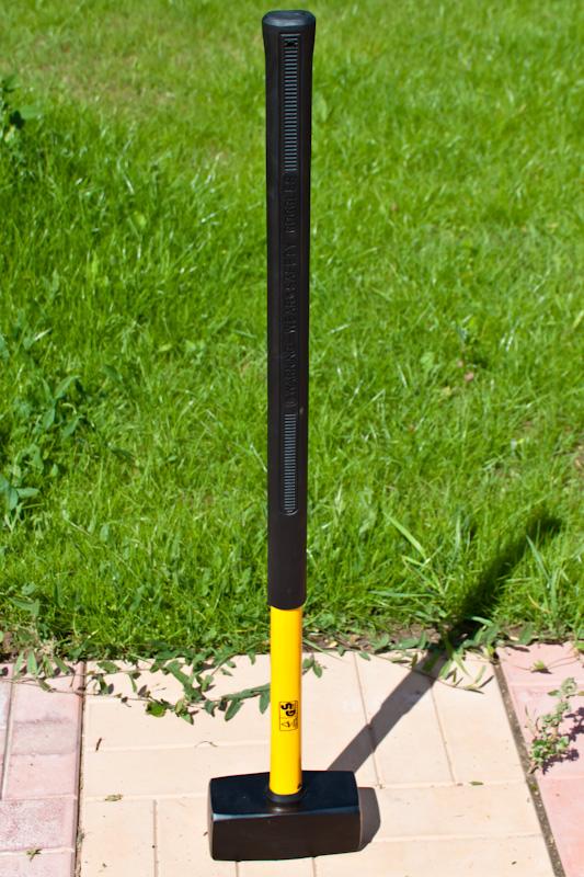 Кувалда FIT, длинная ручка, фиберглас, 5 килограмм
