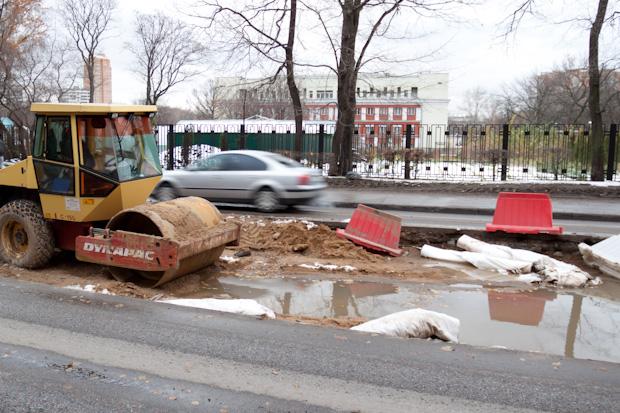 реконструкция трамвайных путей. Ул. Прянишникова