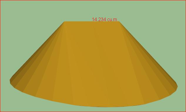 куча песка в 3D модели