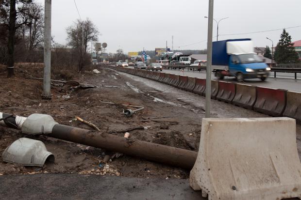Расширение трассы в Чёрной грязи