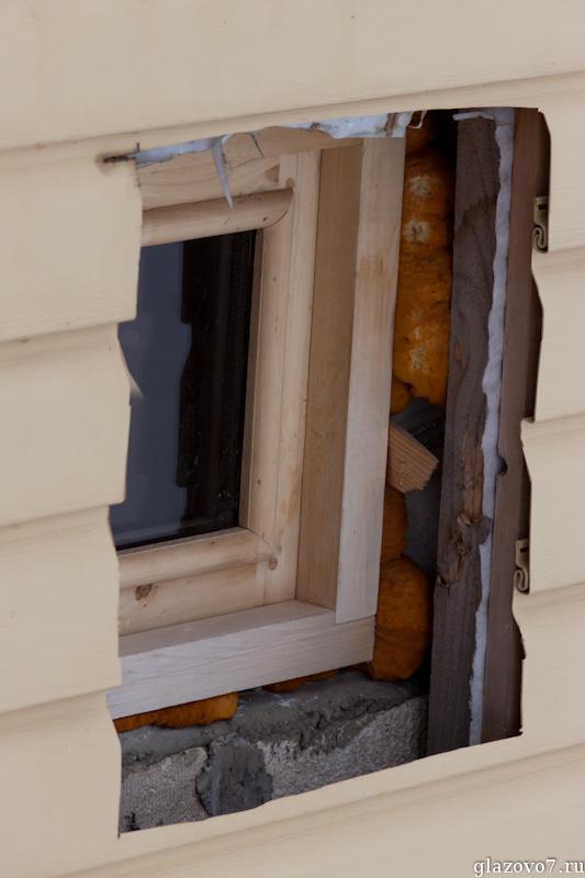 халтурная установка окна