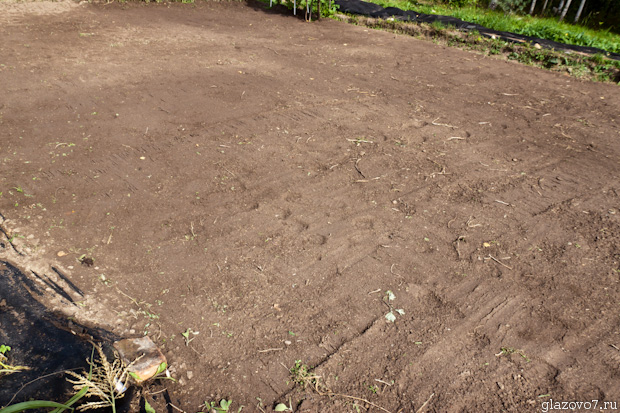 подготовка участка под газон