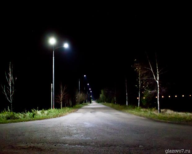 освещение улицы в деревне Савельево