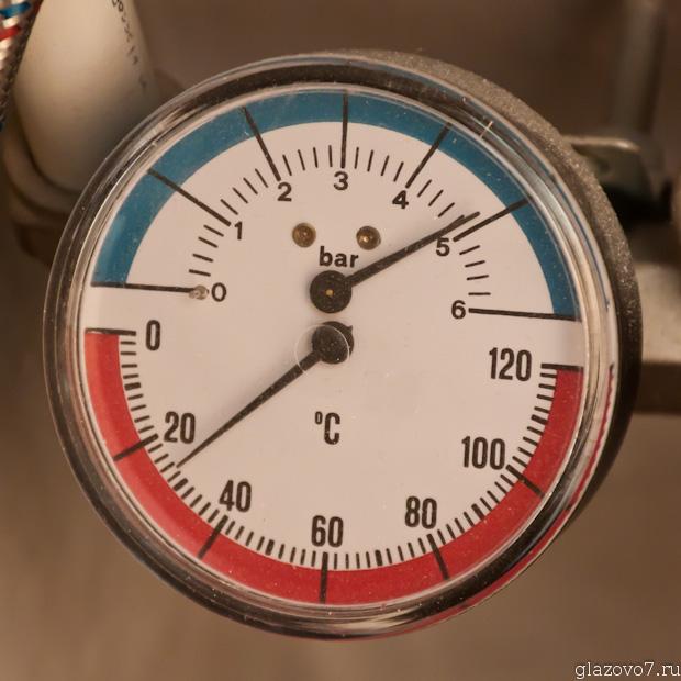 воды в кране нет, а на манометре давление почти 5-ть атмосфер
