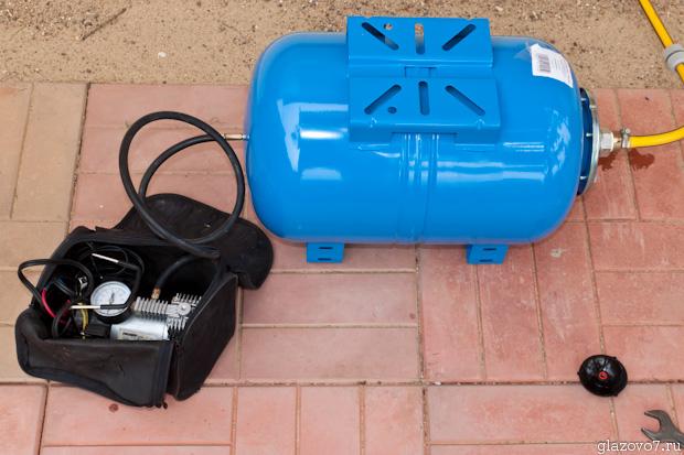замер давление воздуха в гидроаккумуляторе