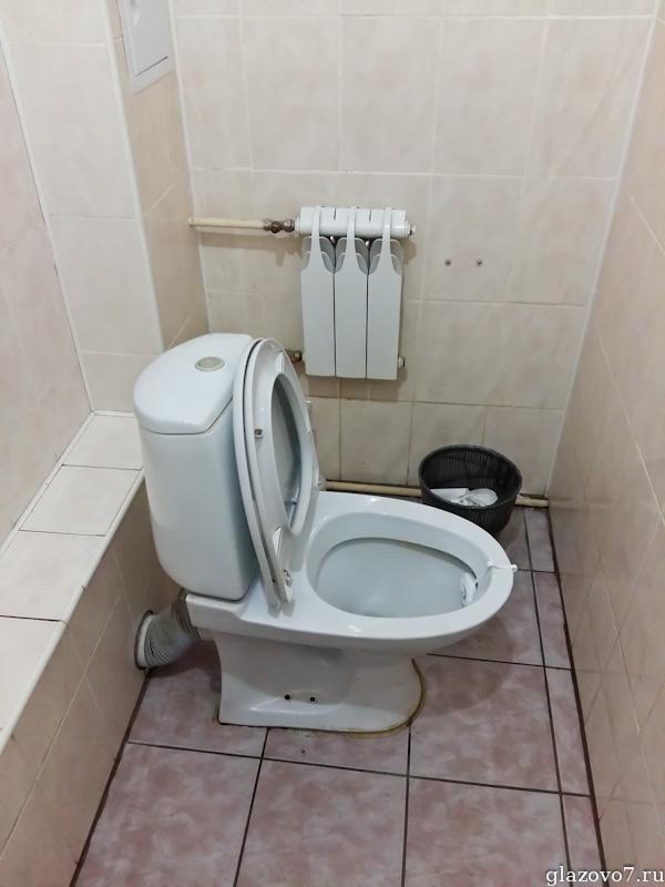 Москва. Многофункциональный центр (МФЦ) района Коптево Северного административного округа. Действующий туалет
