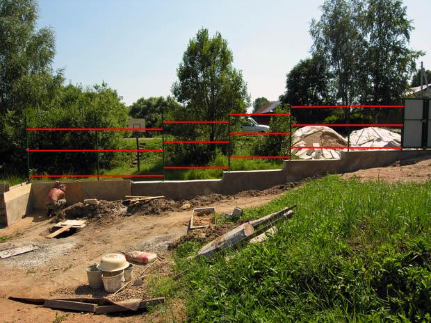 План расположения реек на заборе