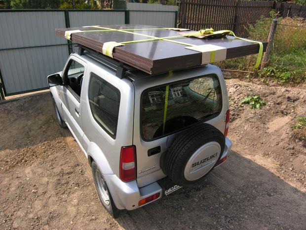 180 кг дсп на крыше Suzuki Jimny