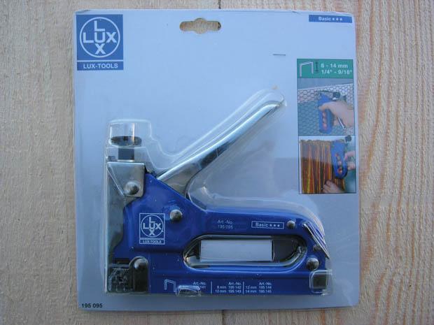 Степлер строительный lux-tools