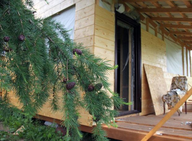 Металлическая дверь на даче