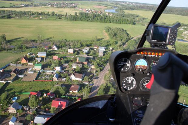 Деревня Глазово с вертолёта