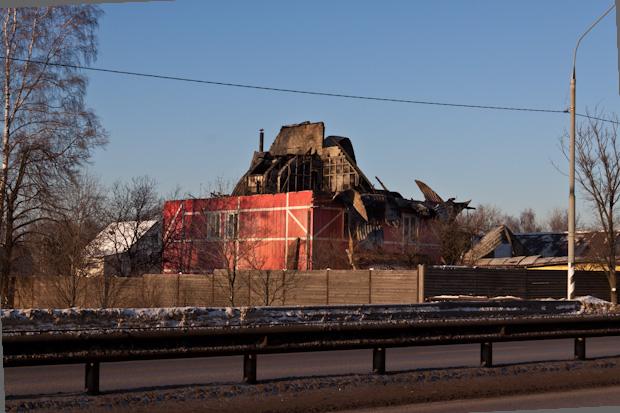 Сгорела крыша