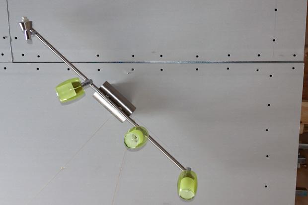 Спот Грот 4*G9*40W зелёное стекло
