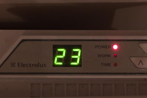 23 градуса на конвекторе