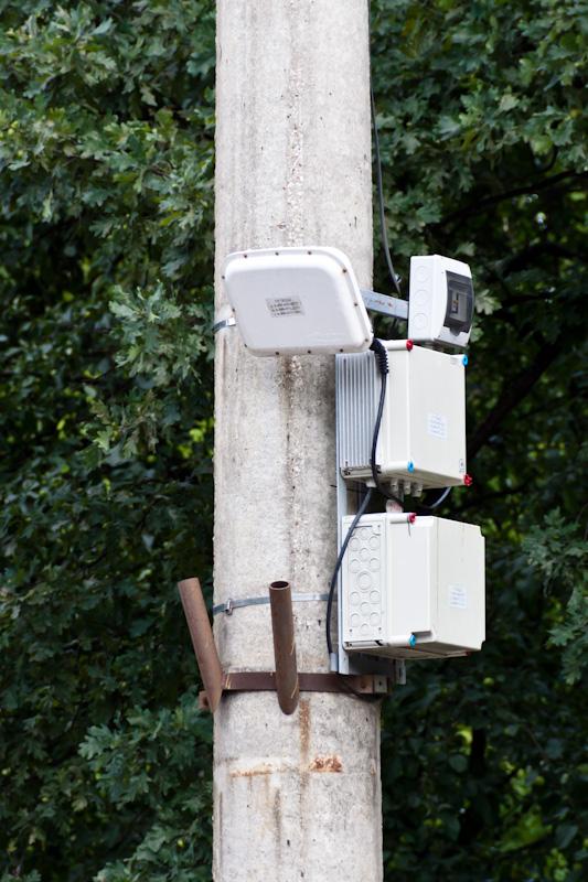 антенна на столбе