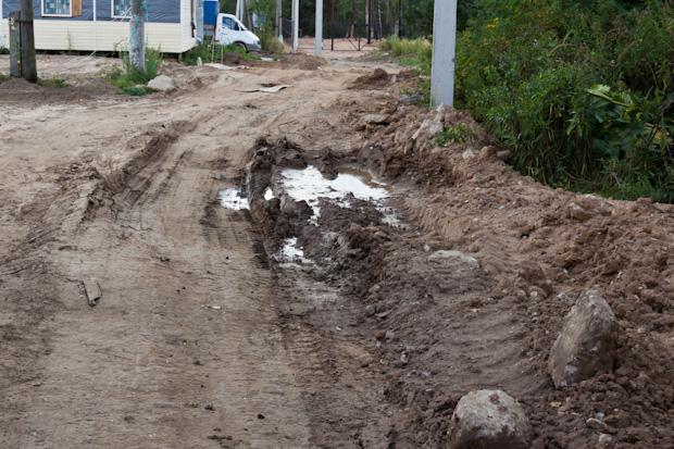 дорога из глины