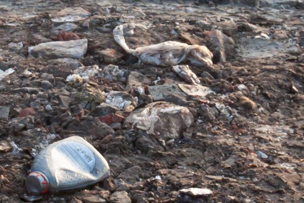 мусор в земле
