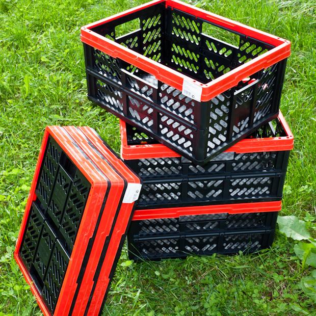 пластиковый складной ящик