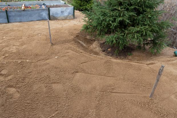 площадка из песка
