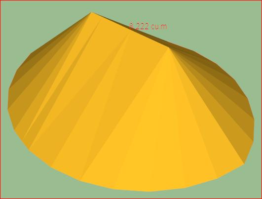 куча песка в SketchUp