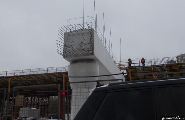 Рублёвское шоссе. Строительство эстакады.