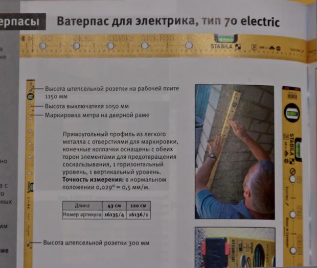 Ватерпас для электрика