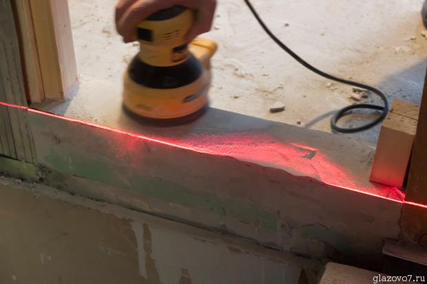 шлифовка наждачкой по лазерному лучу
